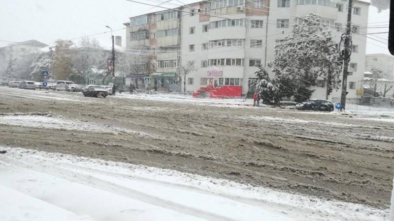 Circulație îngreunată în municipiul Botoșani! FOTO