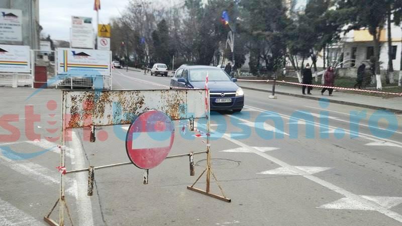 Circulație întreruptă vineri, timp de aproape două ore, pe o porțiune din strada Cuza Vodă