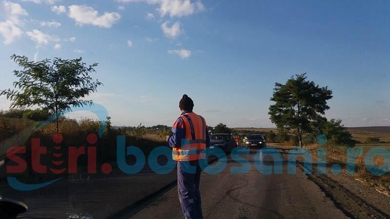 Circulație pe un singur fir pe un tronson din drumul Botoșani-Dorohoi-FOTO, VIDEO