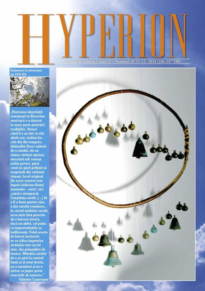 Citește AICI noul număr al revistei de cultură HYPERION!