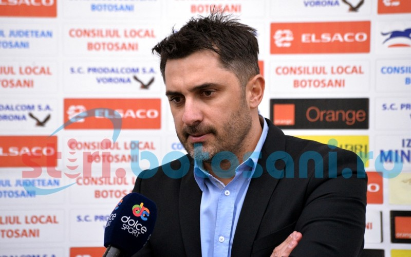 """Claudiu Niculescu: """"Primele doua goluri le-am facut cadou. Victoria Botosaniului este meritata"""""""