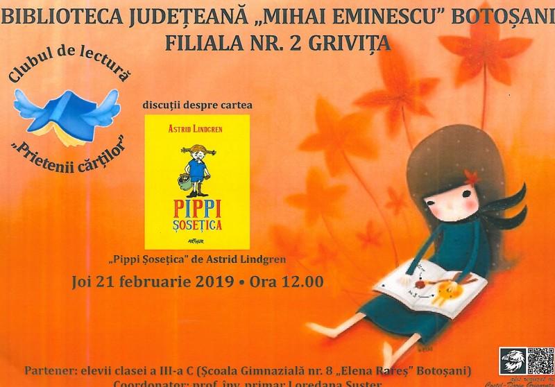 Club de lectură organizat la Biblioteca Județeană