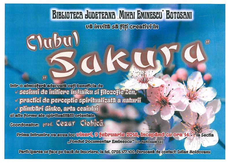 """Clubul """"Sakura"""" îşi deschide porţile, la Biblioteca Judeţeană"""