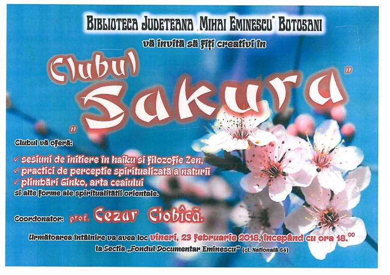 Clubul Sakura, cu prof. Cezar Florin Ciobîcă