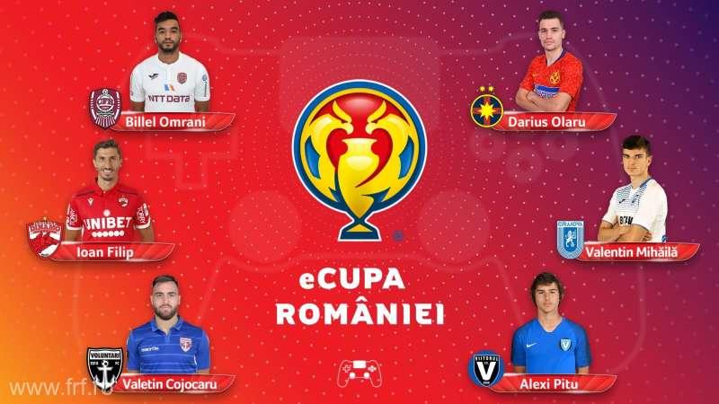 Cluburile din Liga I şi-au desemnat jucătorii care vor participa în Cupa României la fotbal virtual