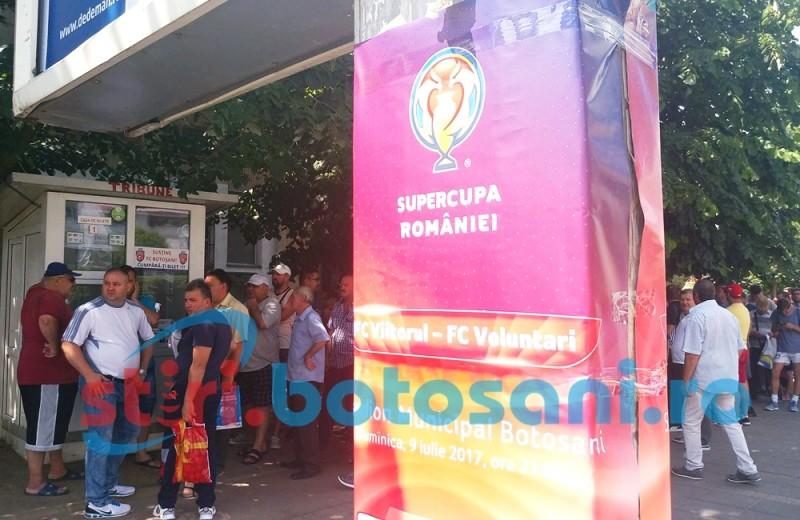 Coada la stadion pentru un BILET la Supercupa Romaniei! Cu cine tin botosanenii? FOTO