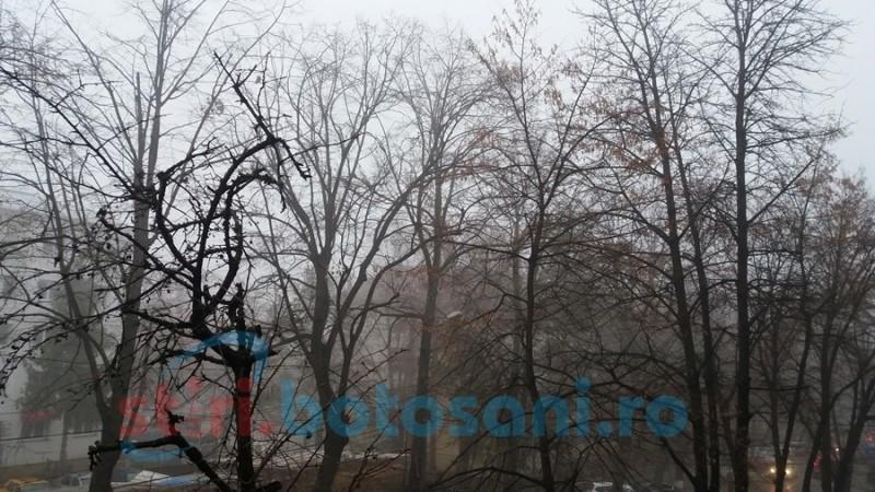 Cod galben de ceaţă în mai multe localităţi ale judeţului Botoşani