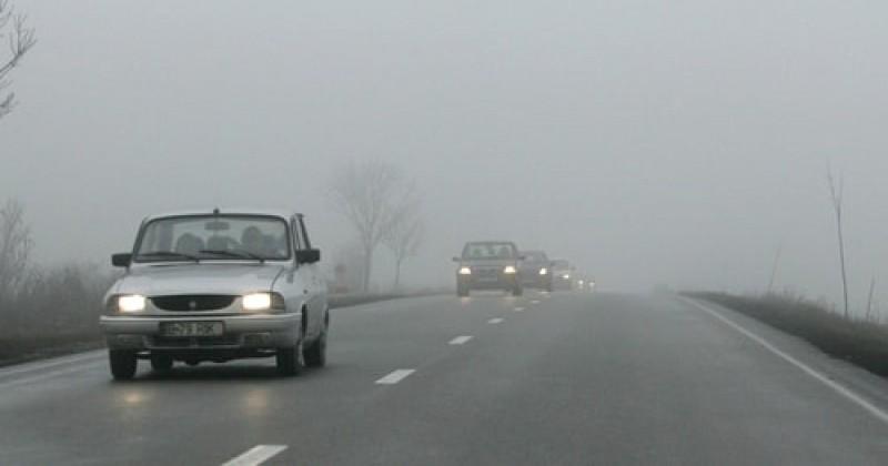 Cod galben de ceață și burniță, pentru zeci de localități