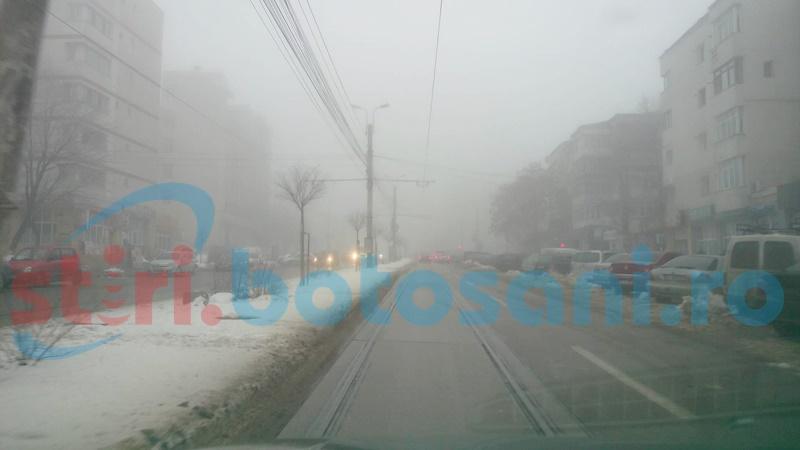Cod Galben de ceață și chiciură, în județul Botoșani!