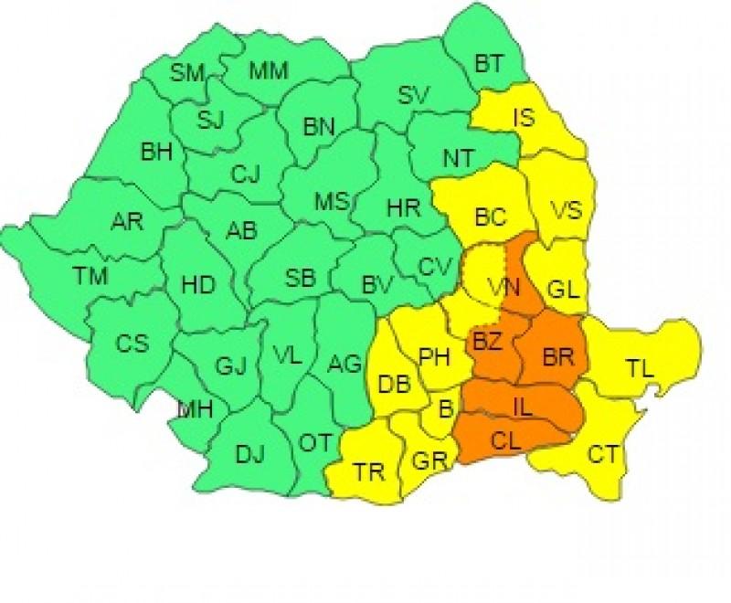 Cod galben pentru judeţele Moldovei. La Botoşani sunt aşteptate ninsori