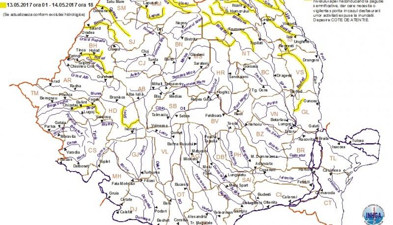 Avertizare! Pericol de inundații în județul Botoșani!