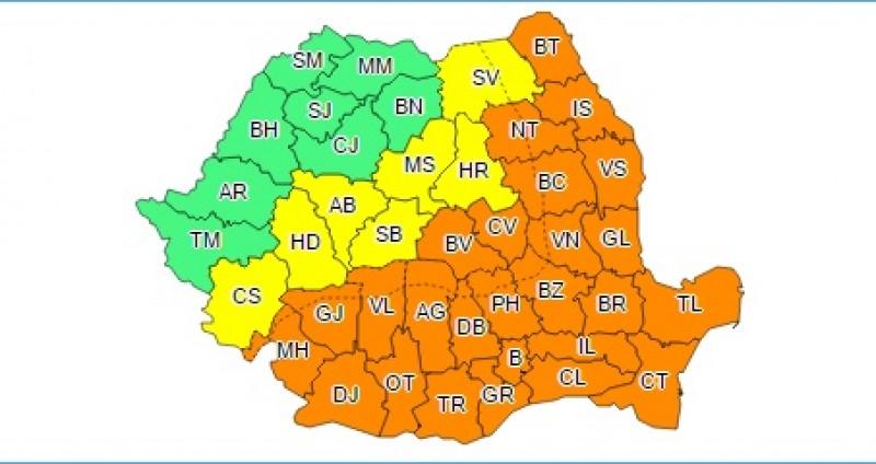 Weekend de foc: COD PORTOCALIU de caniculă în județul Botoșani!