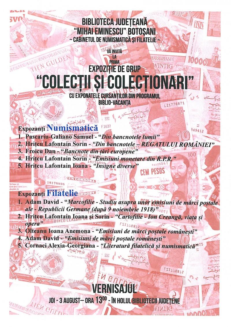 Colecţii şi Colecţionari - Expoziţia Cursanţilor din Programul Bibliovacanţa
