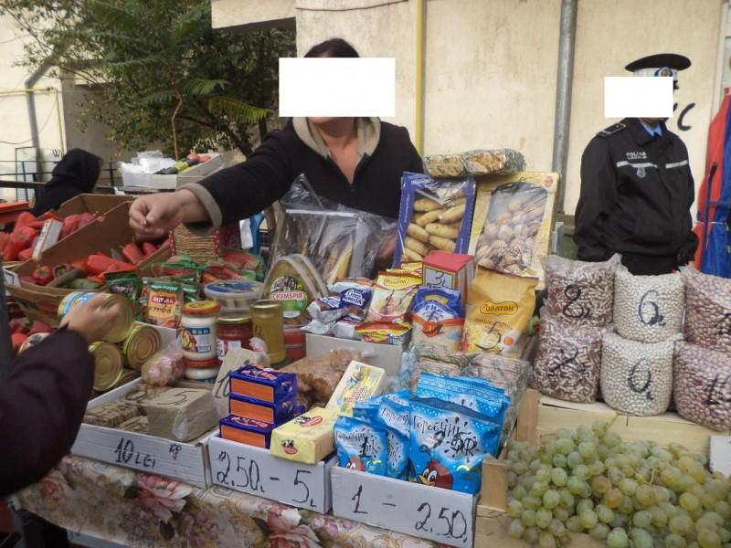Comercianți din Piața Mare, amendați și lăsați fără marfă! - FOTO