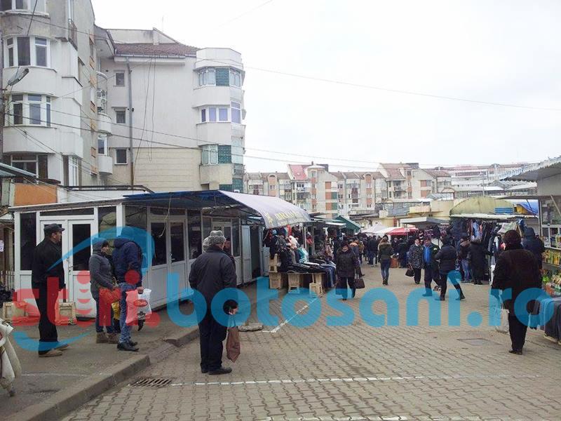 Comerț direct din dubă în Piața Mare din municipiul Botoșani
