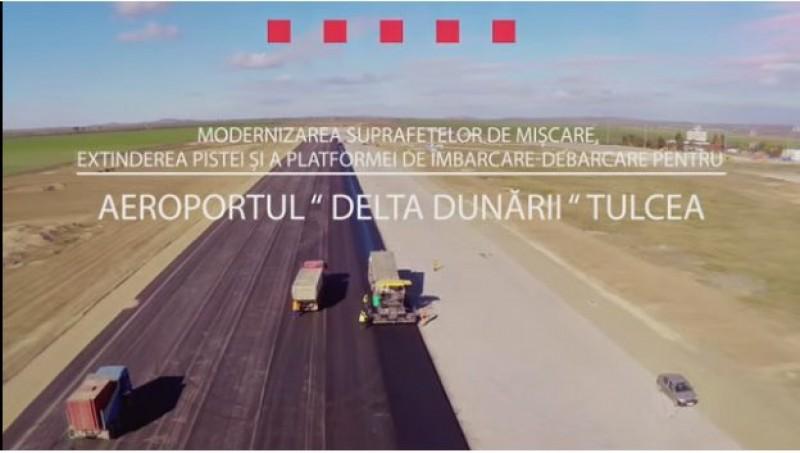 Compania Tehnic-Asist a finalizat si lucrarile la Aeroportul `Delta Dunării` Tulcea