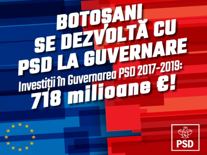 """Comunicat PSD Botoșani: """"Pentru noi fiecare botoșănean contează"""""""