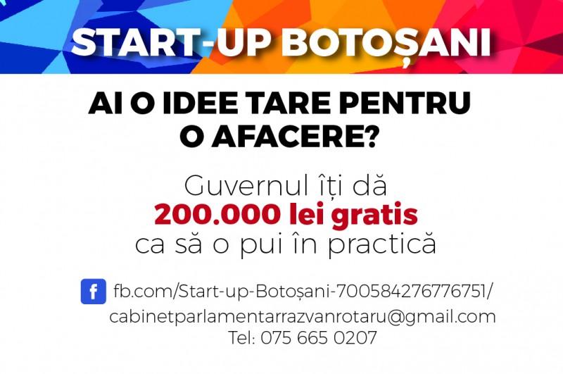 """COMUNICAT - Răzvan Rotaru: """"Am deschis Start-up Botoșani, prima pagină de facebook pentru comunicarea directă cu tinerii antreprenori"""""""