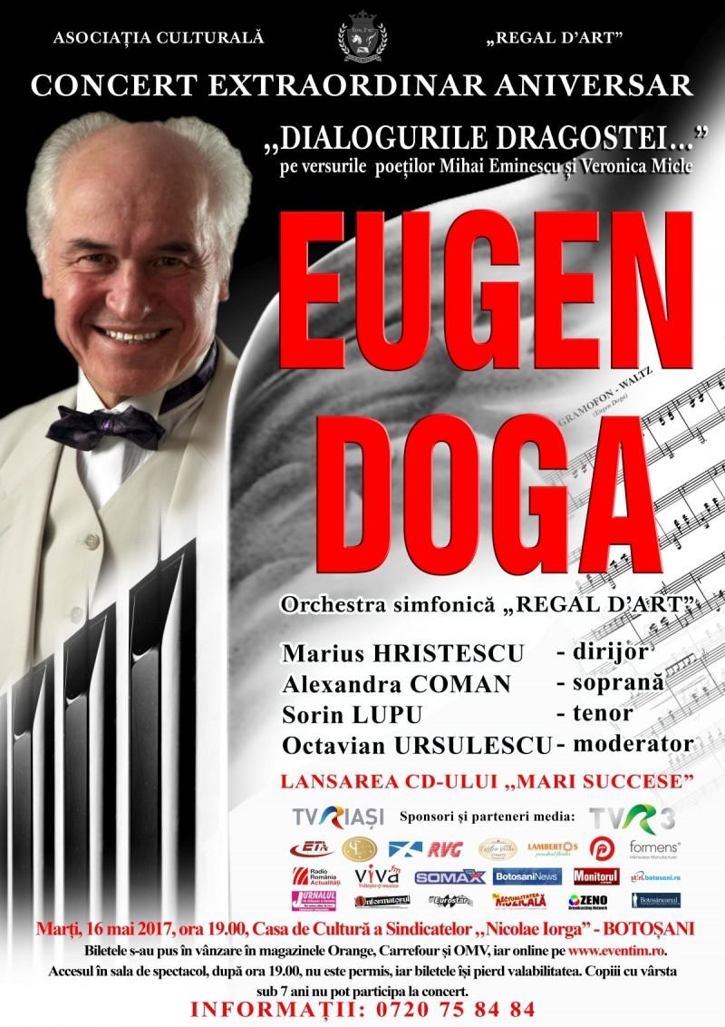 """Concert extraordinar aniversar EUGEN DOGA """"Dialogurile dragostei…"""" - Pe versurile poeților Mihai Eminescu și Veronica Micle"""
