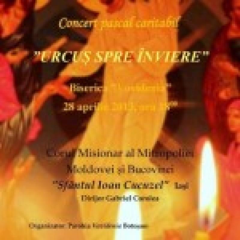 Concert pascal caritabil în Duminica Floriilor, la Biserica Vovidenia din Botoşani VIDEO