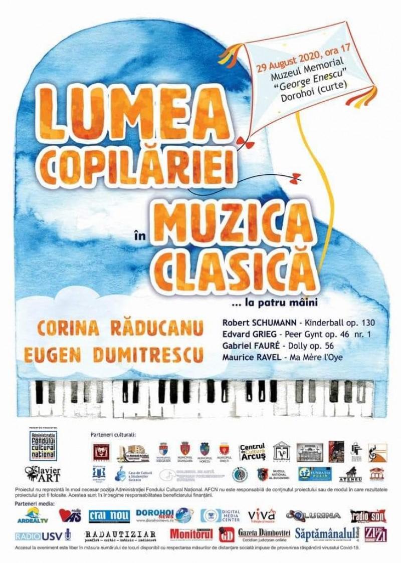 Concerte de muzică clasică în județ, la obiective dedicate lui Enescu