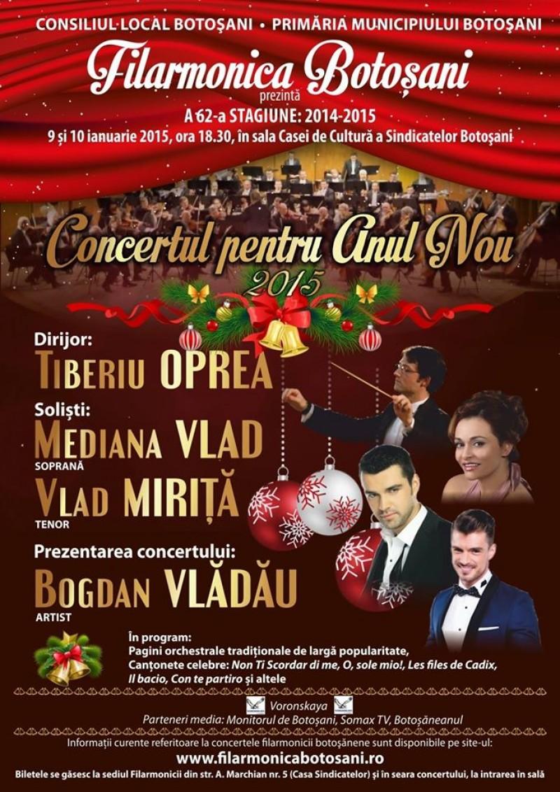 Concertul de Anul Nou al Filarmonicii Botoşani