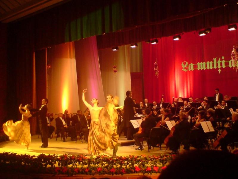 Concertul de Anul Nou al Filarmonicii Botosani: Sala plina, oficialitati si cupe de sampanie - FOTO