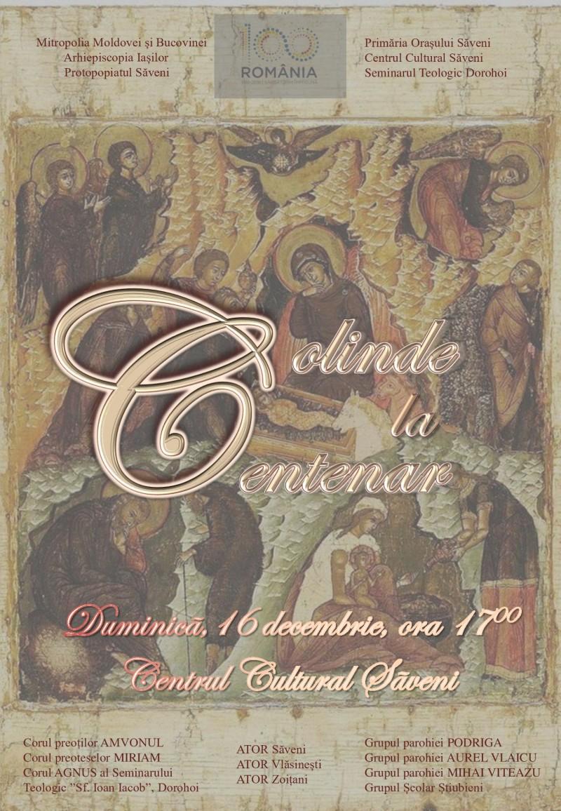 """Concertul Extraordinar """"Colinde la Centenar"""", organizat de Protopopiatul Săveni"""