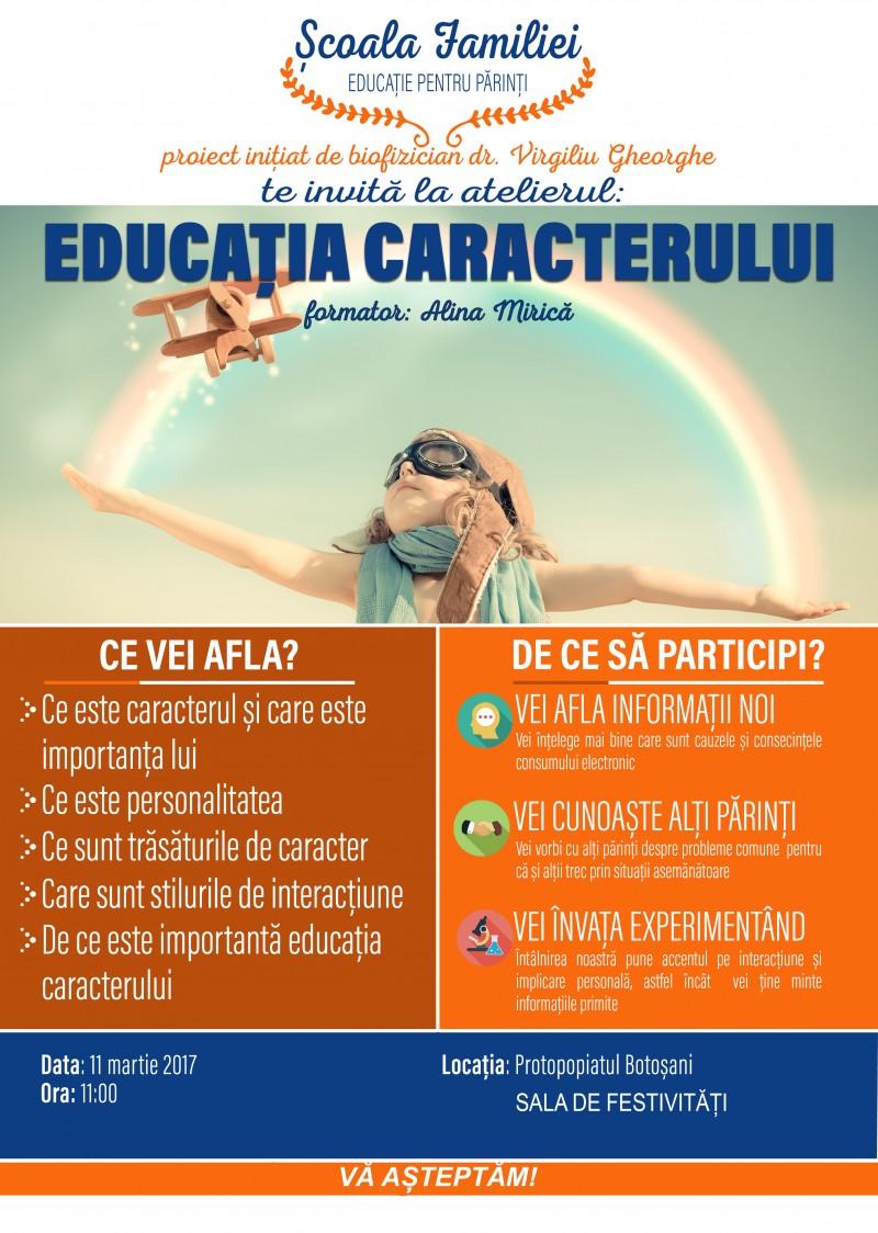 Conferințe pe tema familiei și a educației caracterului, la Botoșani!