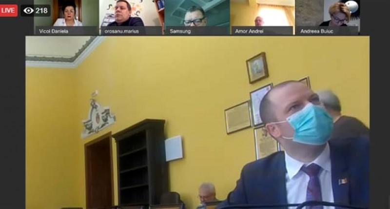 VIDEO: Consiliul Local Botoșani, prima ședință cu vot on-line din istorie