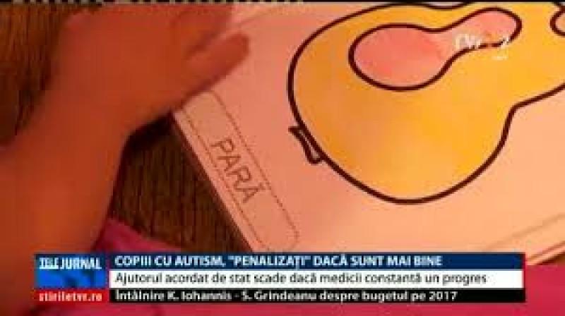 """Copiii cu autism, """"penalizaţi"""" cu scăderea ajutorului de stat, dacă fac progrese"""