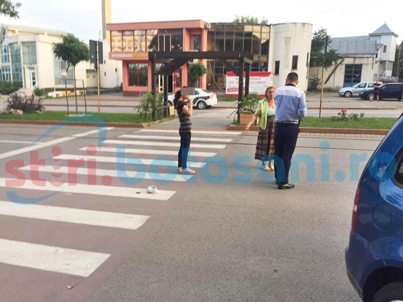 Copil accidentat pe trecerea de pietoni de o șoferiță începătoare! FOTO