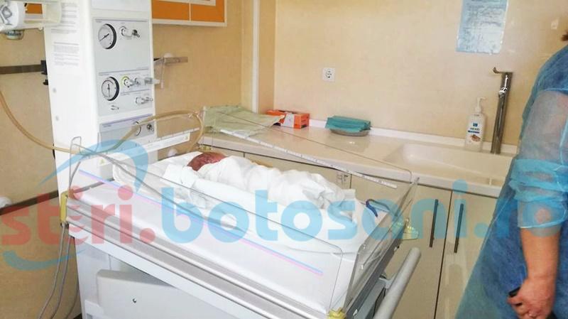 Copil de jumătate de kilogram, născut în Maternitatea Botoșani