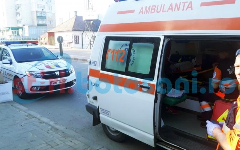 Copil transportat la spital, dupa ce a cazut de pe bicicleta! FOTO