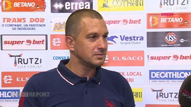 """Costel Enache, mulţumit de egalul cu Astra: """"Ştiam că va fi un meci greu"""""""
