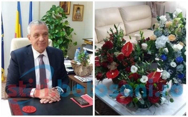 Costică Macaleți, președintele Consiliului Județean, își serbează ziua de naștere la muncă