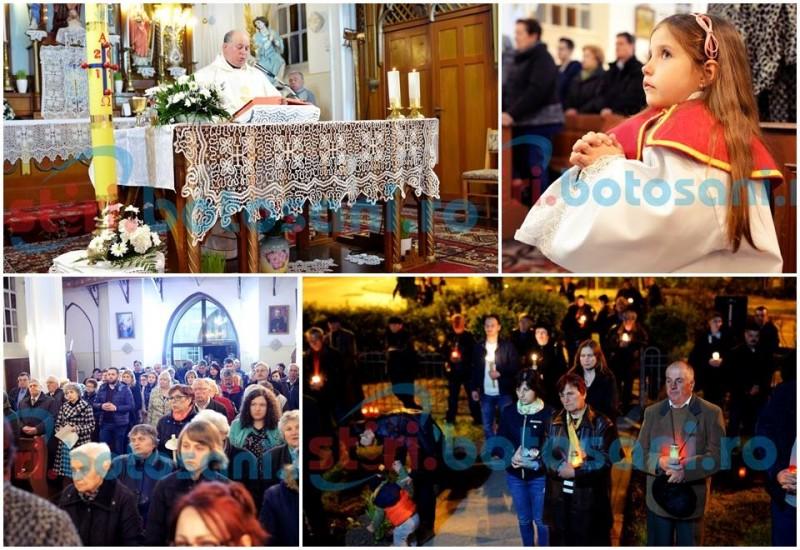 Credincioşii romano-catolici celebrează Învierea Domnului! FOTO, VIDEO