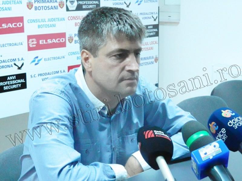 """Cristi Popovici, antrenor FC Botoșani: """"Suntem mândri de ce am realizat în seara asta"""""""