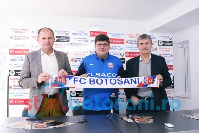 """Cristi Pustai, prezentat oficial la FC Botosani: """"Am incredere mare in el"""" - FOTO"""