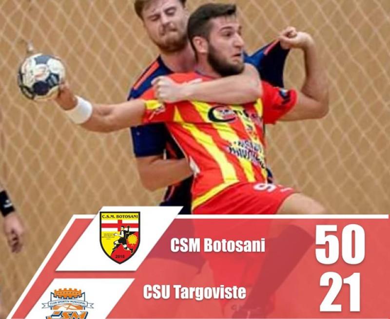 CSM Botoșani - CSU Târgoviște 50-21! Victorie de palmares!