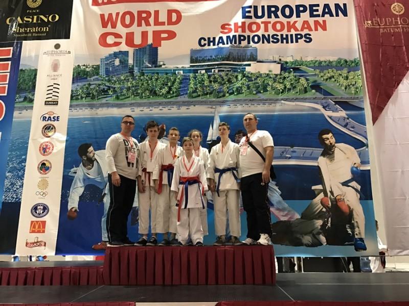 CSS Botosani s-a intors cu medalii de la Campionatul European de Karate Shotokan WSF, din Georgia - FOTO