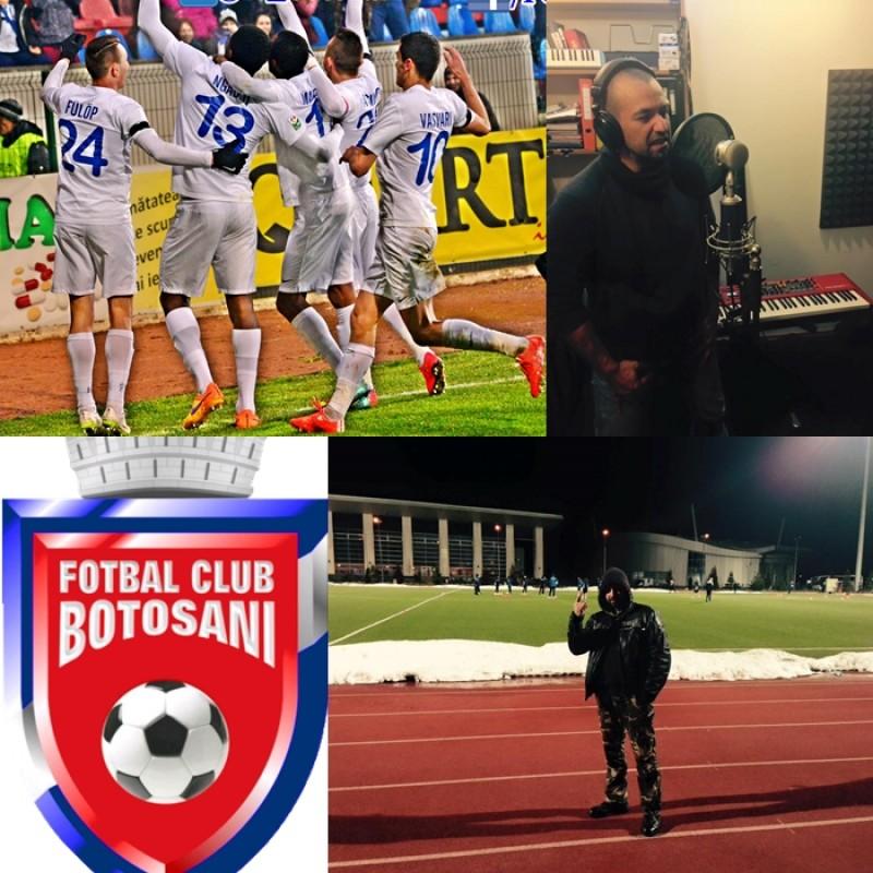 """Cum a luat nastere noul imn al FC Botosani? Artistul Gelu Graur ne-a explicat pas cu pas: """"Asa au venit versurile"""" - VIDEO"""