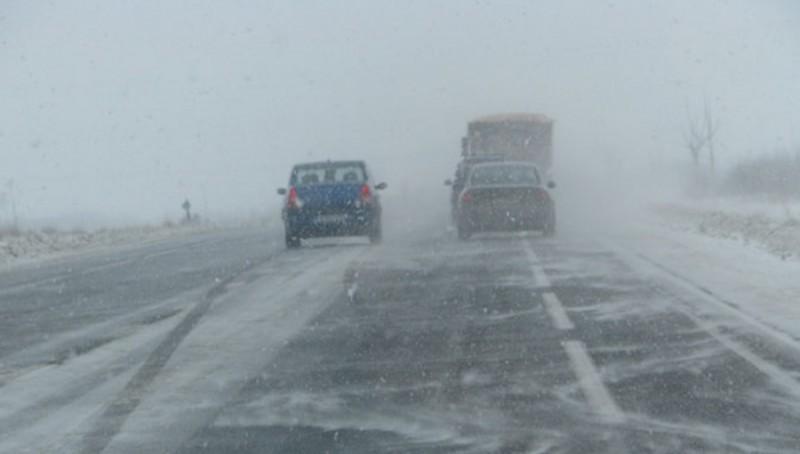 Cum se circulă în această dimineață în zona Moldovei, după ninsorile abundente!