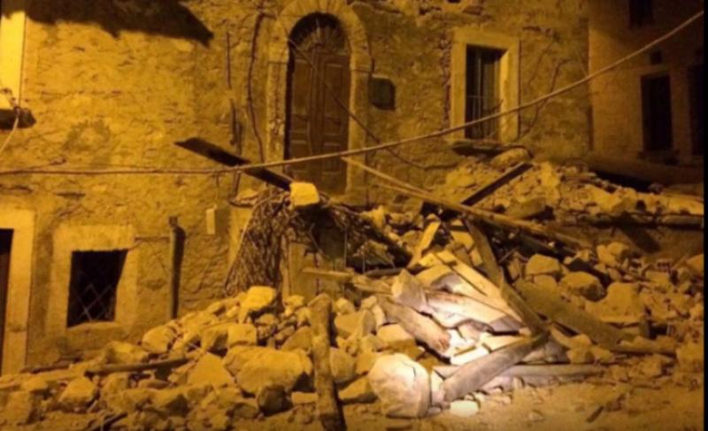 """Cutremur cu magnitudinea de 6,2 grade, în centrul Italiei. Primarul din Amatrice: """"Oraşul nu mai există"""""""
