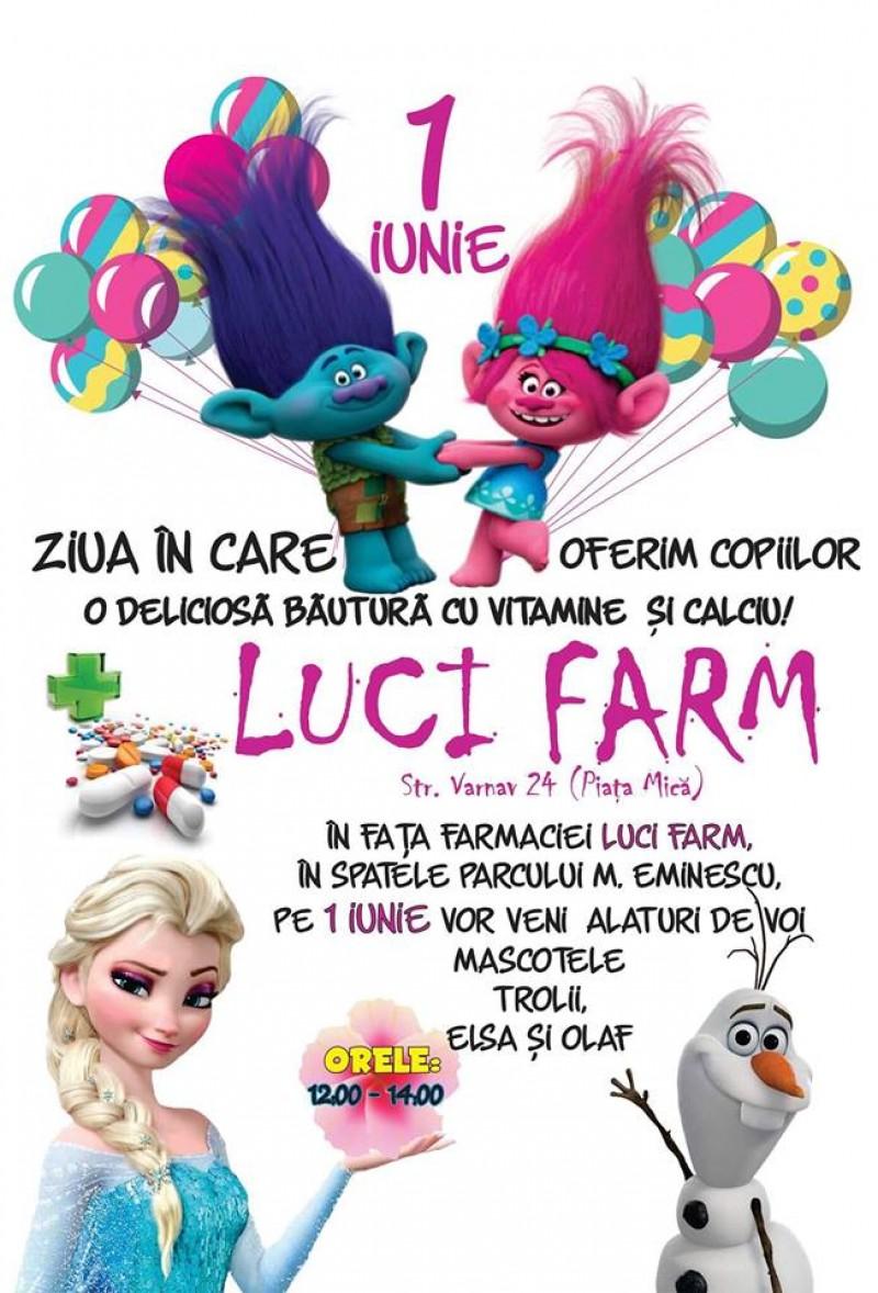 De 1 Iunie, Farmacia LUCI FARM pregătește surprize pentru copiii din Botoșani!