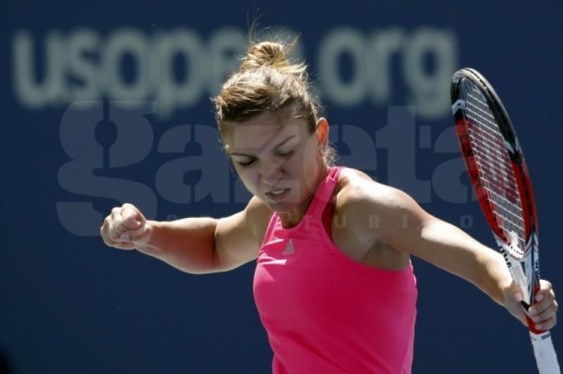 Debut cu dreptul la US Open! Simona Halep a învins-o greu pe Danielle Rose Collins 2-1