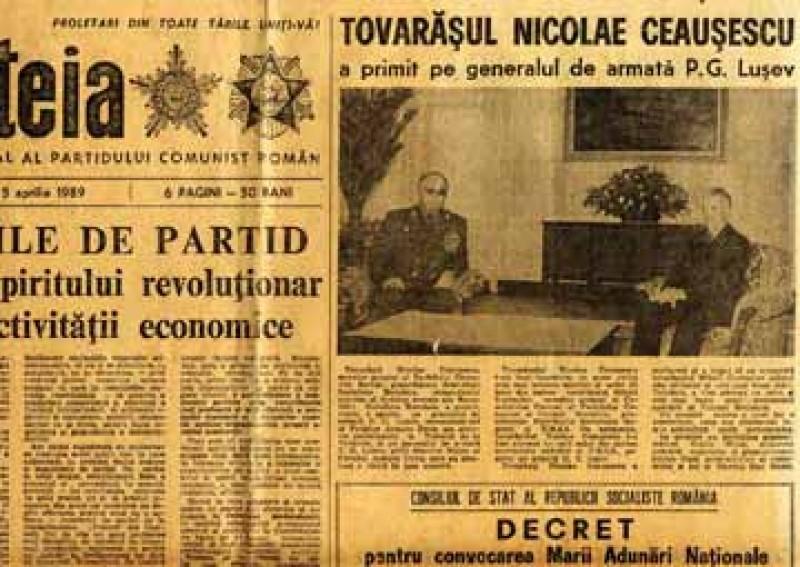 Decriptarea unui articol informativ din presa din Decembrie 89