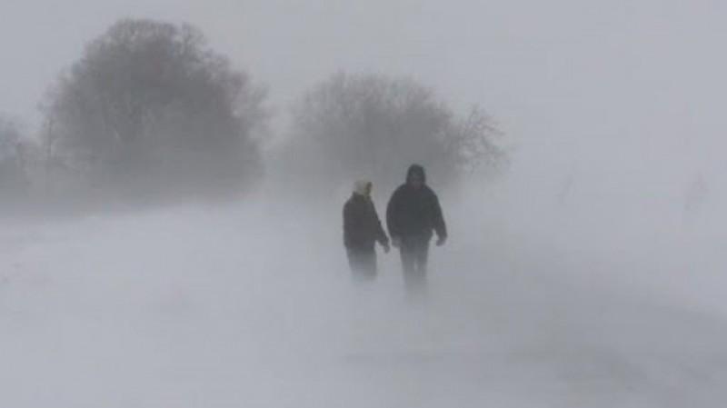 Din nou Cod galben de viscol pentru zona Moldovei. Temperaturile scad la -15 grade iar rafalele de vânt ajung până la 60 km pe oră