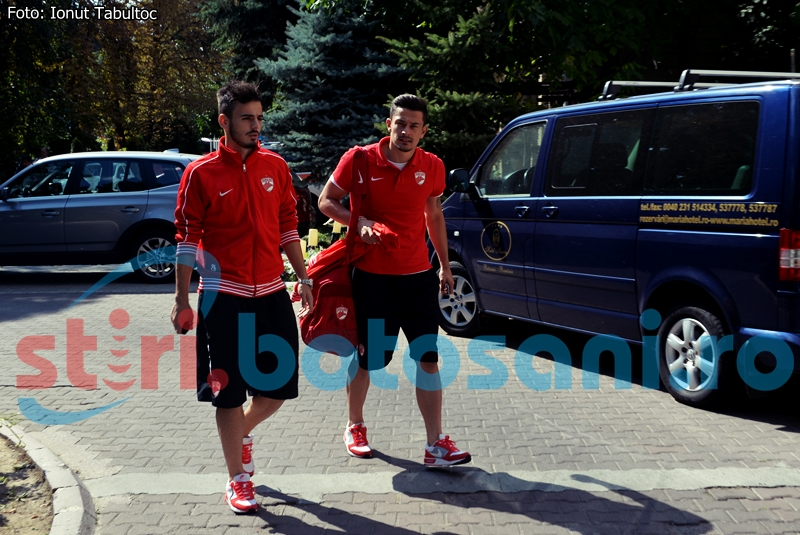 Dinamo Bucuresti a ajuns la Botosani - FOTO