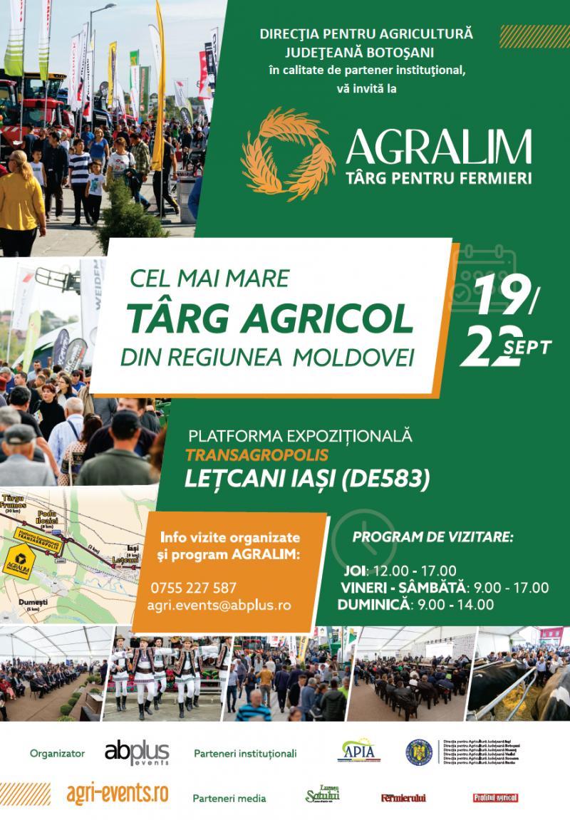 Direcția Județeană de Agricultură invită botoșănenii la cel mai mare târg agrar din regiune